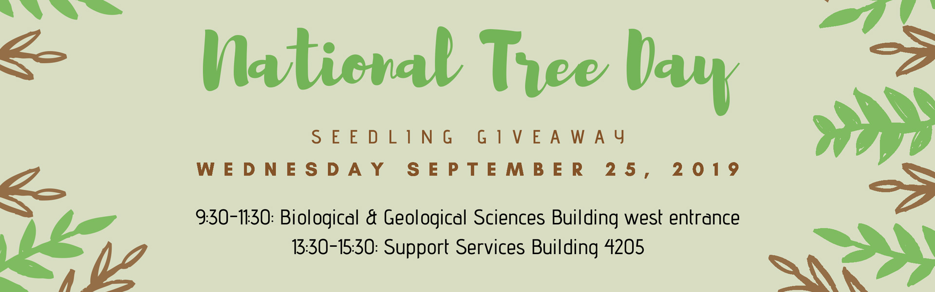 National Tree Day seedling giveaway