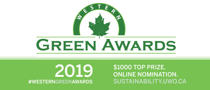 Western Green Awards nomination and information