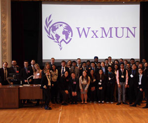 Group shot of students participating in WxMUN